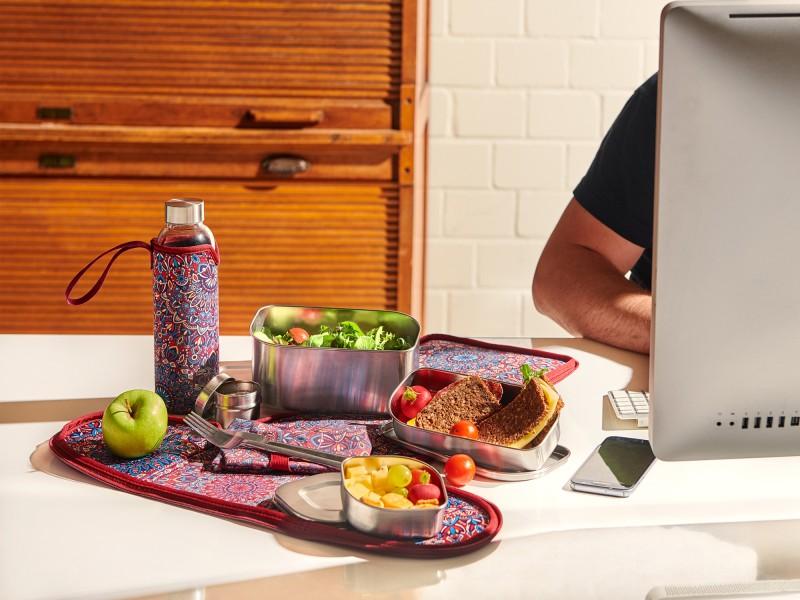 Lunchbag zum Mitnehmen deiner Lunchbox und Flasche