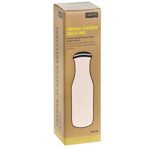 Thermo-Flasche Edelstahl 0,5l nude
