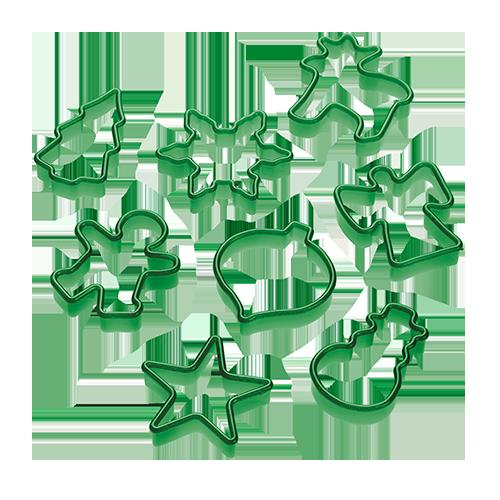 Ausstechformen Weihnachten 8teilig grün