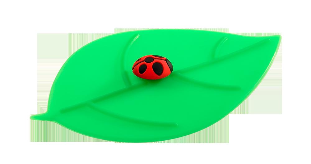 Mein Deckel Blatt Marienkäfer