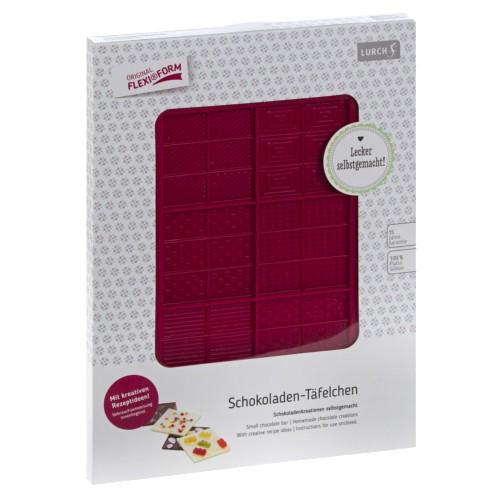 Flexiform Schoko-Täfelchen 12x20,5cm ruby
