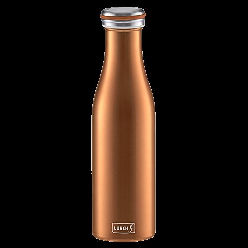 Isolier-Flasche Edelstahl 0,5l bronze-metallic