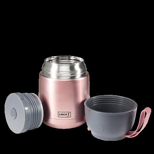 Thermo-Pot Edelstahl 480ml rosa-metallic