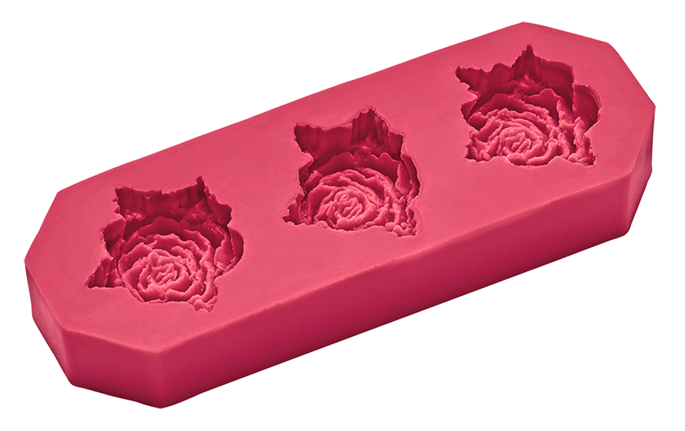Flexiform Prägeform Rosen 45mm cotton candy
