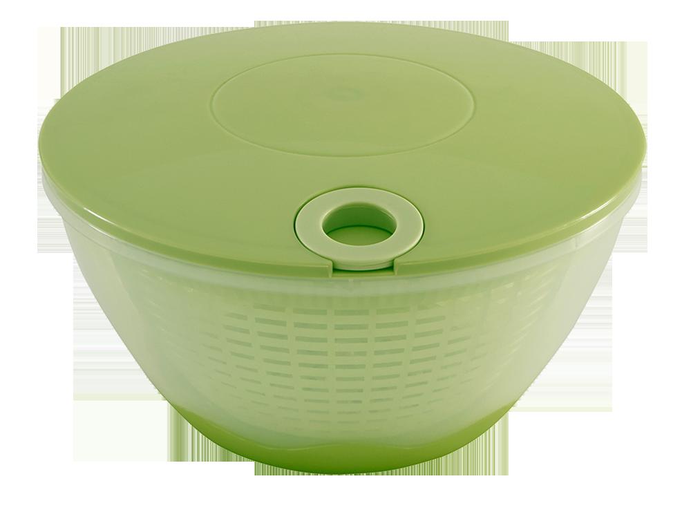 Salatschleuder mit Zugseil grün/transparent