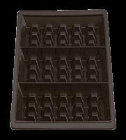 Vorschau: Flexiform Waffel 29x14,5cm 3fach 2er Set braun