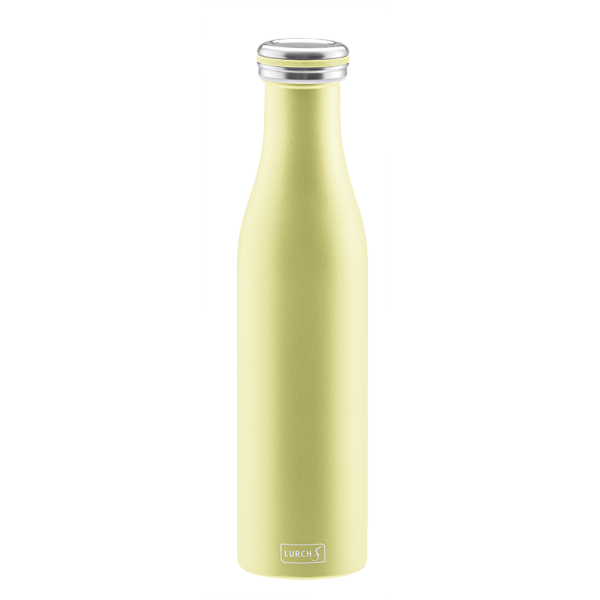 Isolier-Flasche Edelstahl 0,75l pearl yellow