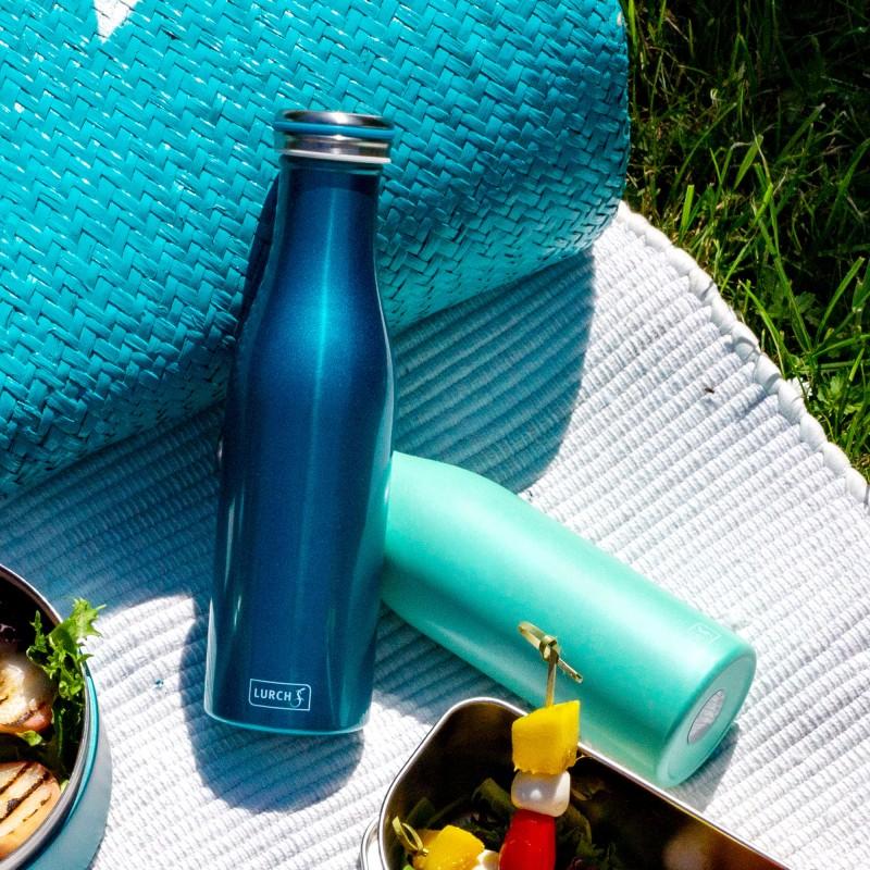 Lurch Isolierflaschen aus doppelwandigem Edelstahl in Trendfarben