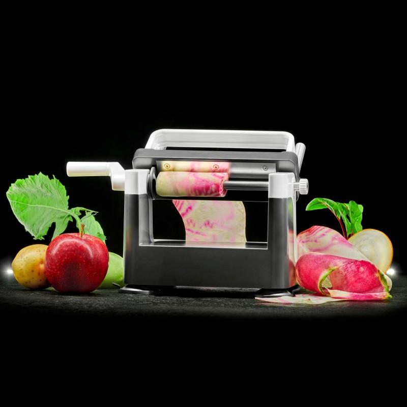 Lurch Gemüsebahnenschneider Catto schneidet Endlosbahnen aus Obst und Gemüse