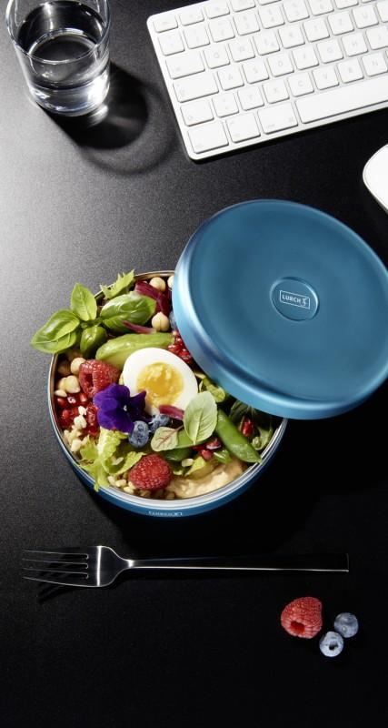 Iso-Lunchbox aus doppelwandigem Edelstahl von Lurch