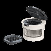 Vorschau: Knoblauchschneider steingrau/weiß