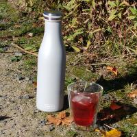 Vorschau: Thermo-Flasche Edelstahl 0,5l hellgrau