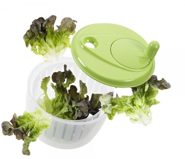 Salatschleuder mit  Kurbel grün