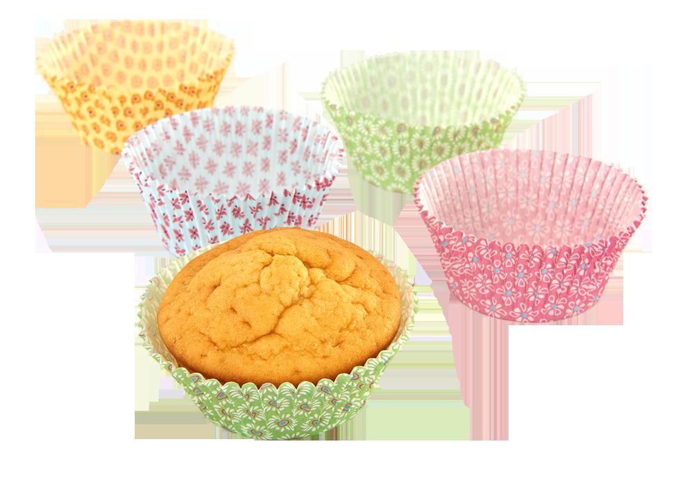 Muffin Papierförmchen 4fach sortiert 100 Stück
