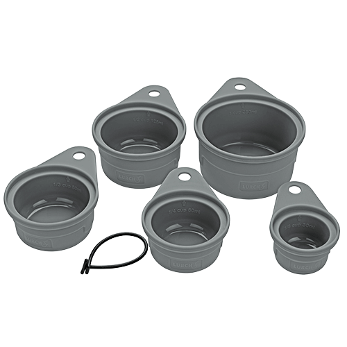Messbecher Set Silikon 5teilig flint grey