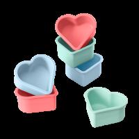 Flexiform Muffinliner Herz 6er Set Pastel Mix