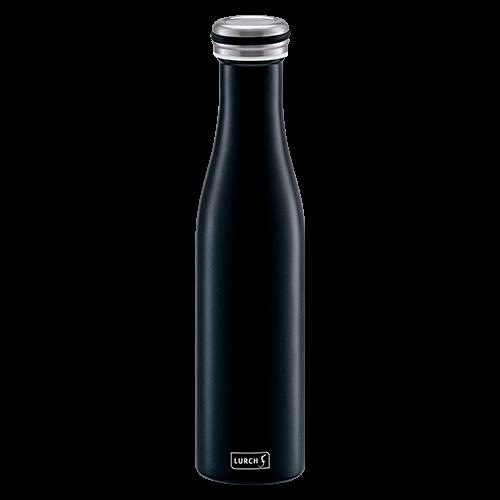 Isolier-Flasche Edelstahl 0,75l mattschwarz