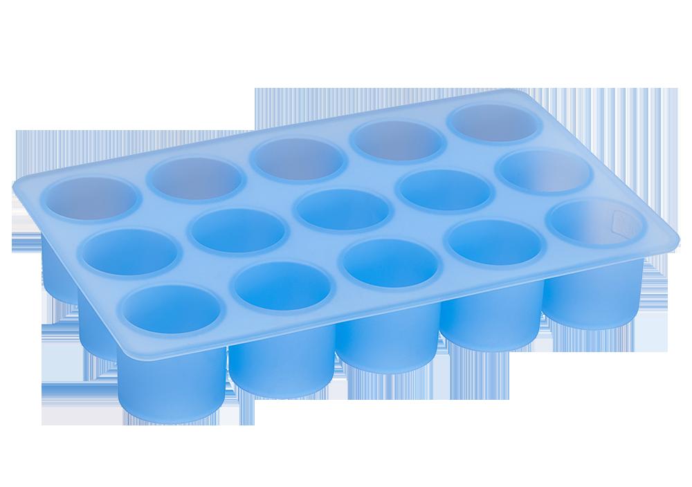 Eiswürfelbereiter Zylinder Ø3cmx3cm eisblau