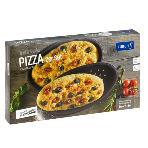 Flexiform Pizza 2er Set braun