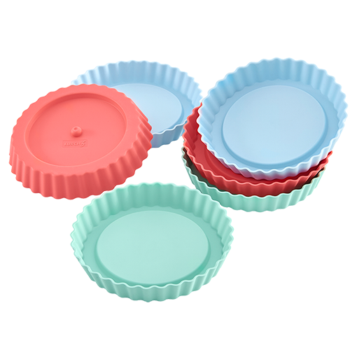 Flexiform Tortelett 6er Set Pastel Mix