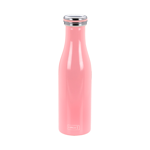 Isolier-Flasche Edelstahl 0,5l soft pink