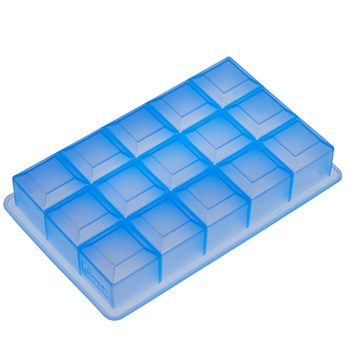Eisformer Würfel 3x3cm eisblau