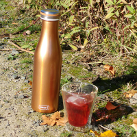 Vorschau: Thermo-Flasche Edelstahl 0,5l bronze-metallic
