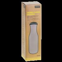 Vorschau: Thermo-Flasche Edelstahl 0,5l perlgrau