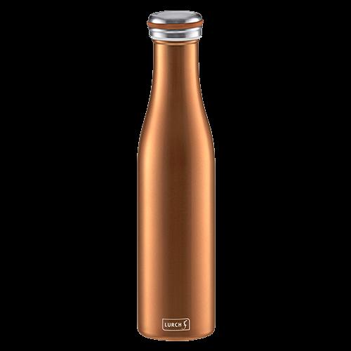 Isolier-Flasche Edelstahl 0,75l bronze-metallic