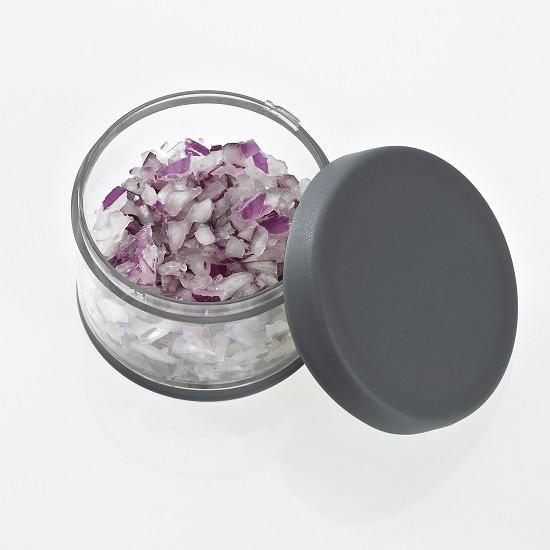 Minihacker steingrau/weiß