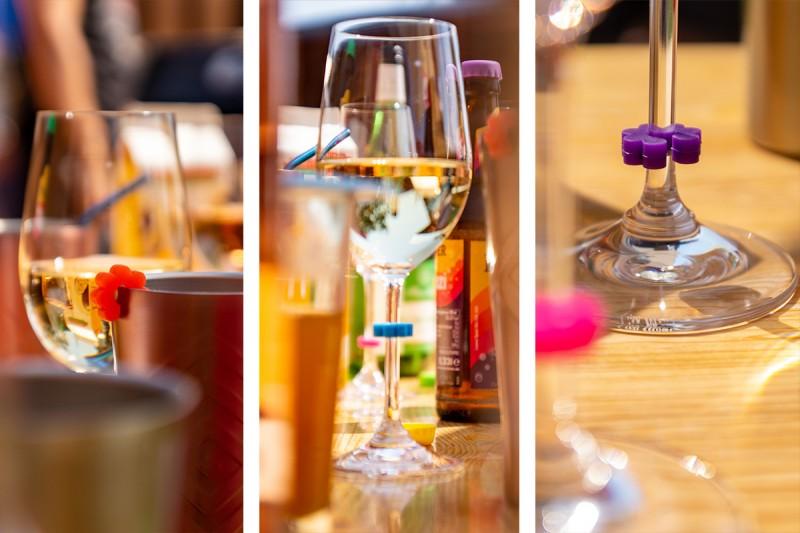 Glasdeckel und Glasmarkierer, Silikon Kronkorken