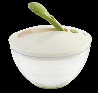 Vorschau: Salatschleuder mit Pumphebel grün/cremeweiß