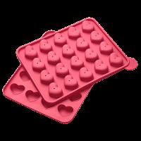 Vorschau: Flexiform Cake Pops Herz 20fach cotton candy